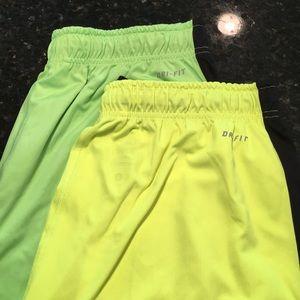 2 Nike Dry Fit Athletic Shorts sz L